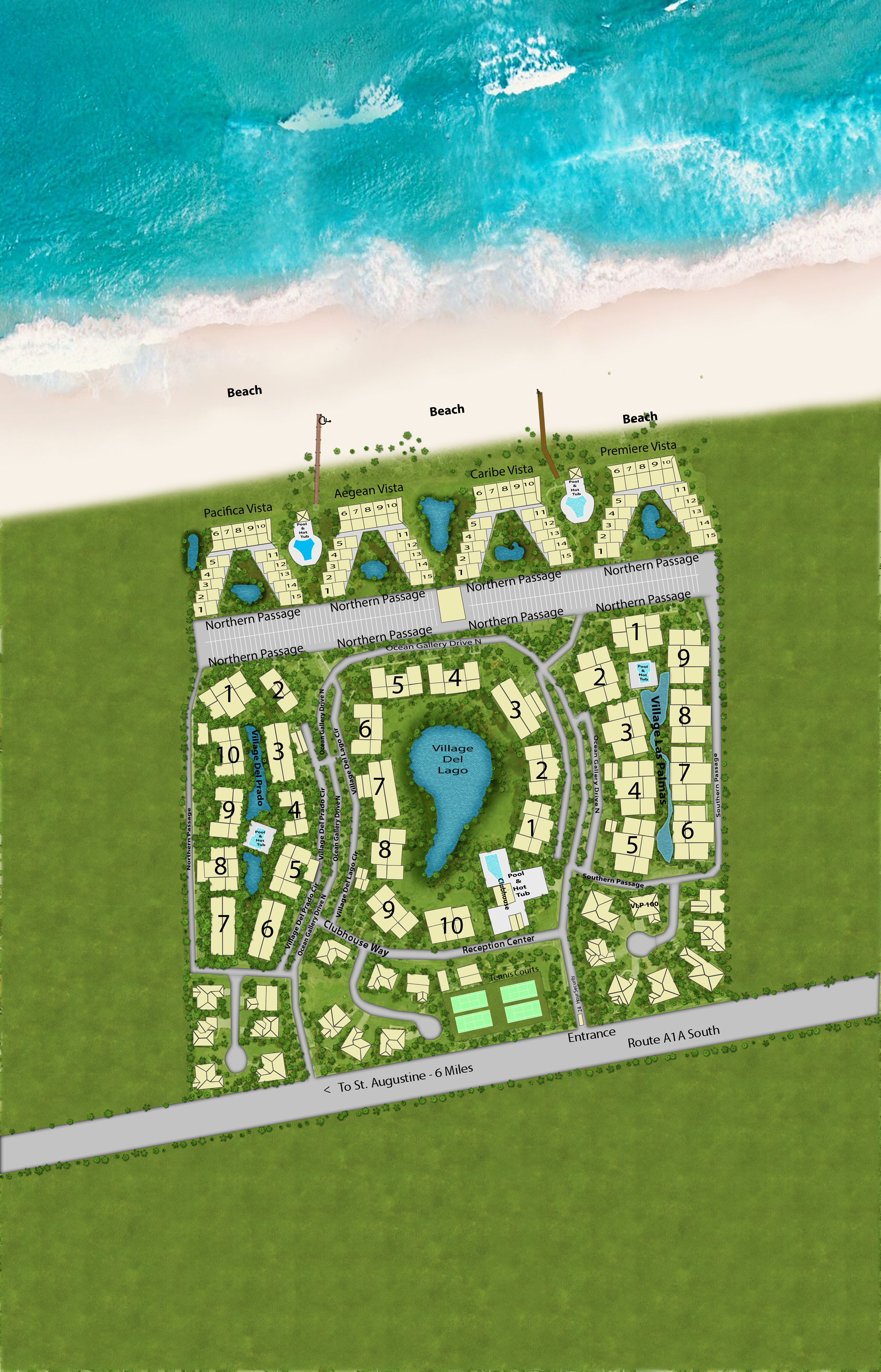 Map Of St Augustine Florida.Map Of Our Condos For Rent In St Augustine Fl The Ocean Gallery